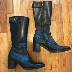 Miu Miu leather boots. Size 9. Dark brown color
